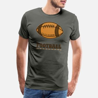 College Football Bollfotboll Super Bowl Sporthjälm - Premium-T-shirt herr