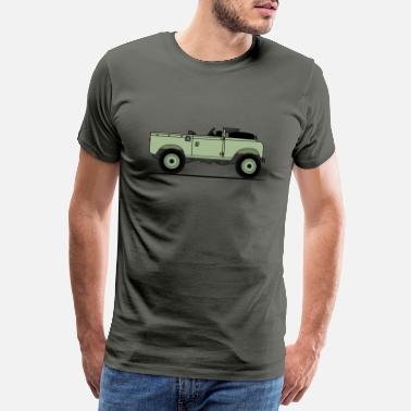 Offroad Vehicles Series 90 Window Down Green - Men's Premium T-Shirt