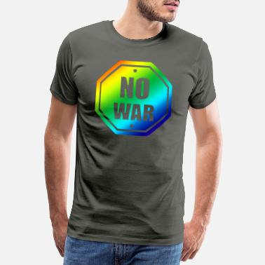 Anti-globalization No was colorful rainbow - Men's Premium T-Shirt