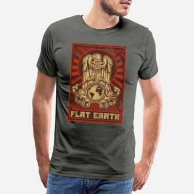 Fake News Flat Earth propaganda - Men's Premium T-Shirt