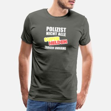 Police POLICEMAN not all superheroes wear cape wq s - Men's Premium T-Shirt