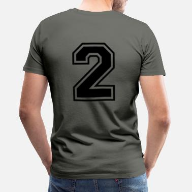 Soccer Numero 2 | Foot Team honkbal| college basketbal - Mannen premium T-shirt