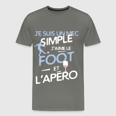 Football - un mec simple - T-shirt Premium Homme