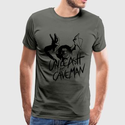 Unleash the Caveman - Men's Premium T-Shirt