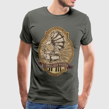 Gramophone Nostalgia on Melodie - Men's Premium T-Shirt