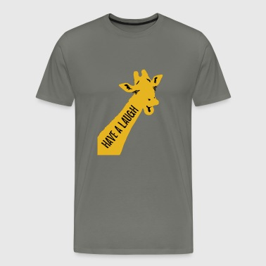Have a laugh giraffe - Men's Premium T-Shirt