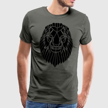 Edgy Geometric safari Lion Print by Stencilize - Men's Premium T-Shirt