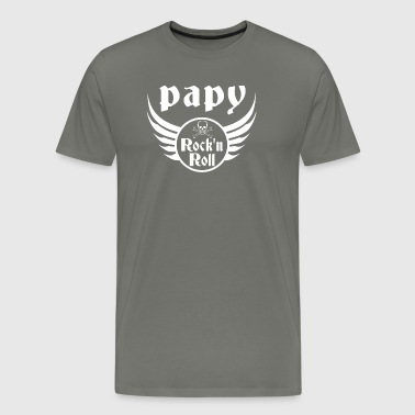Papy Rock and roll - T-shirt Premium Homme