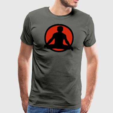 Yoga Lotus Pose - Men's Premium T-Shirt