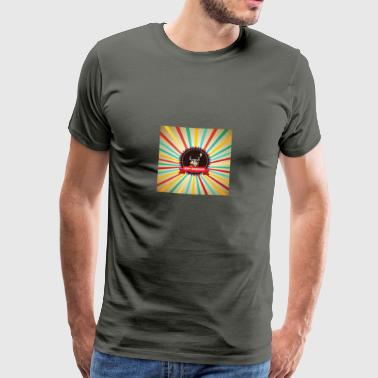 Happy Barbarians - Viking Retro Logo - Men's Premium T-Shirt
