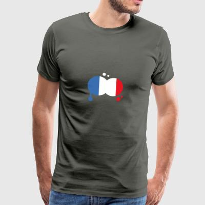 flagg France - Premium T-skjorte for menn