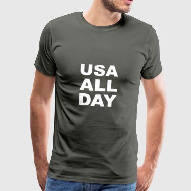 USA All Day - Herre premium T-shirt