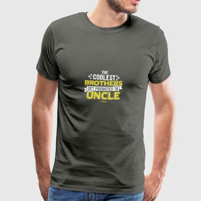 COOLEST BROTHERS GET PROMOTED TO UNCLE - Men's Premium T-Shirt