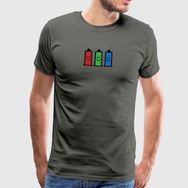 Sikker First - Smiley - RGB pixels Smilie kondom - Herre premium T-shirt