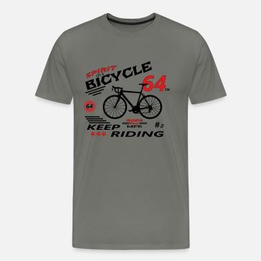 Cykel Racing Team cykel cykel naturlig kæde biker Herre premium T shirt hvid
