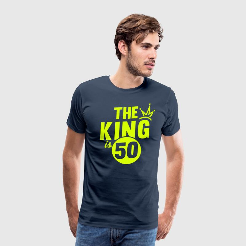 THE KING IS 50 - Men's Premium T-Shirt