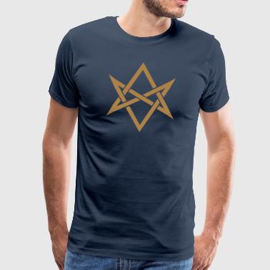 Unicursal hexagram, Golden Dawn, Kabbalah, Magick - Herre premium T-shirt