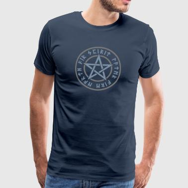 Pentagram element magic symbol runor stjärna craft - Premium-T-shirt herr