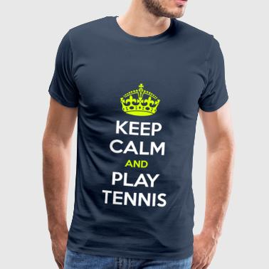 KEEP CALM AND PLAY TENNIS - Maglietta Premium da uomo