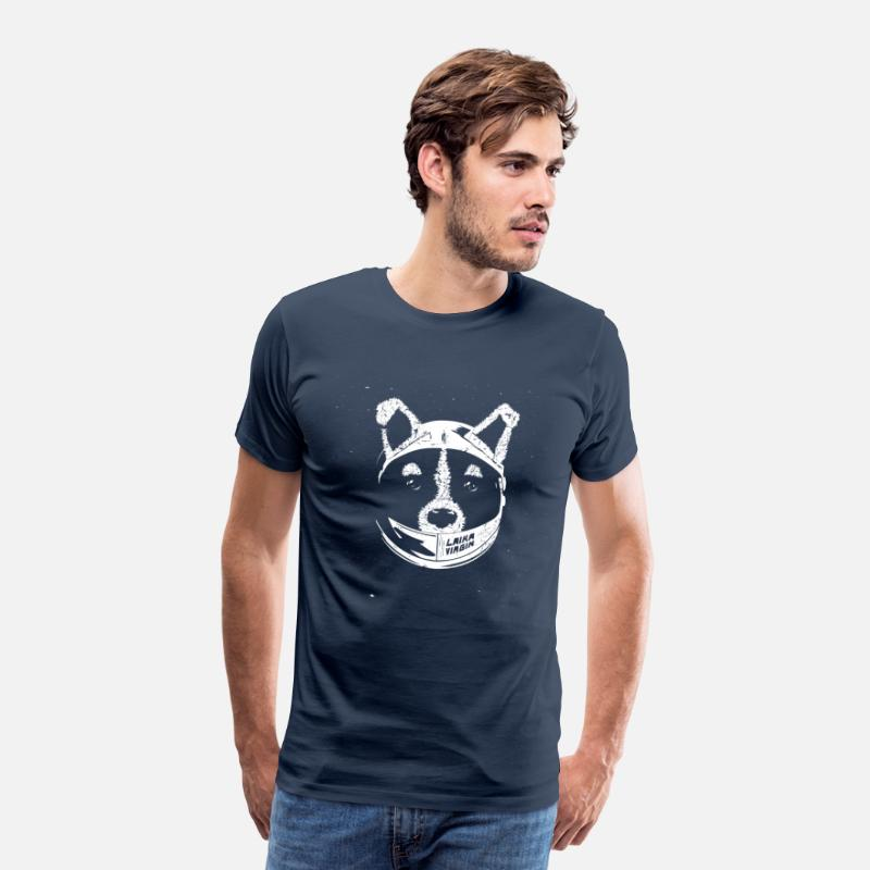 Laika T-Shirts - Laika Virgin - Men's Premium T-Shirt navy