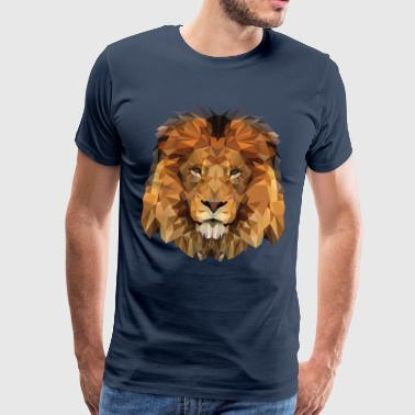 Lion Cat of Prey Low Poly - Men's Premium T-Shirt