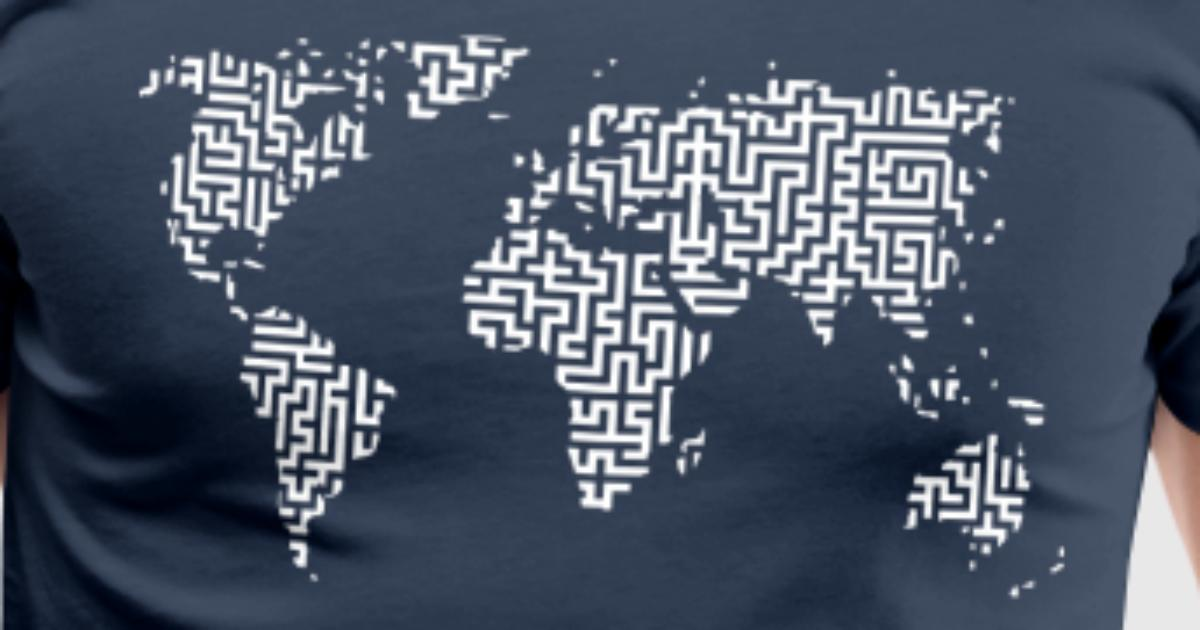 World map as a labyrinth by muli84 spreadshirt gumiabroncs Choice Image