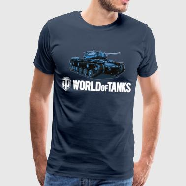 World of Tanks Blue Tank Men Hoodie - Premium-T-shirt herr
