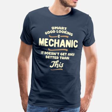 Automonteurs Intelligent, knap en mechanica ... - Mannen Premium T-shirt