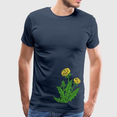 dandelion hawkbit blowball clock flower - Men's Premium T-Shirt