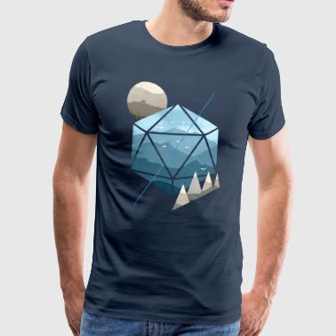 Dungeons & Dragons (Dnd) Watercolour D20 - Mannen Premium T-shirt