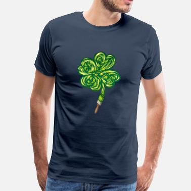 Nature Collection Clover - I make my own luck - Herre premium T-shirt
