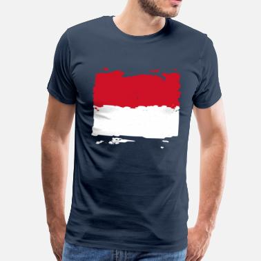 Indonesien Indonesien Flagge - Männer Premium T-Shirt