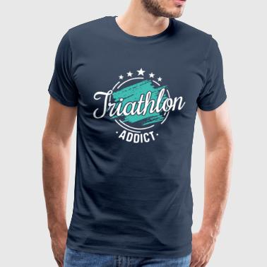 Retro Vintage Triathlon Graphic Shirt Gift - Men's Premium T-Shirt