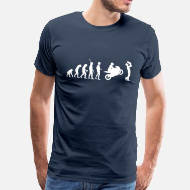 Evolution Father Evolution motorcycle with father and child - Men's Premium T-Shirt