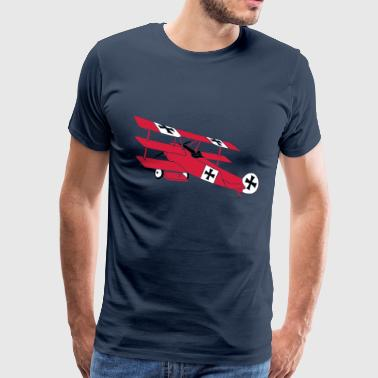 Fokker Roter Baron Red Air Combat First World War  - Men's Premium T-Shirt