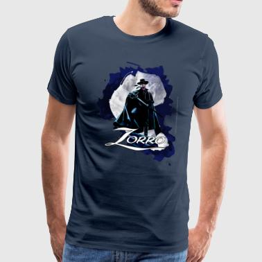 Zorro Hero By Night Standing On A Rooftop - Mannen Premium T-shirt
