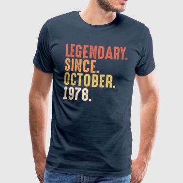 October Legendary since october 1978 - 50. Geburtstag Bday - Männer Premium T-Shirt