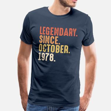 October Legendary since october 1978 - 50. Geburtstag Bday - Camiseta premium hombre