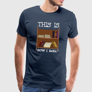 Library Carriage Book Reading Birthday Fun Gift - Men's Premium T-Shirt