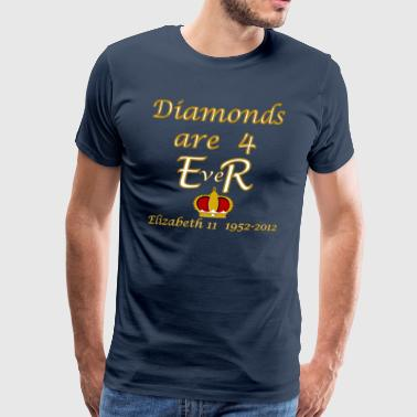 diamonds are 4 ER jubilee 1952_2012 - Men's Premium T-Shirt