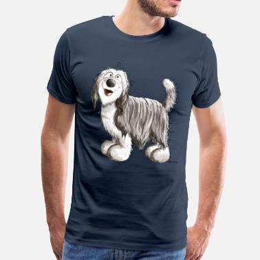 Bearded Collie Drole Bearded Collie - T-shirt Premium Homme