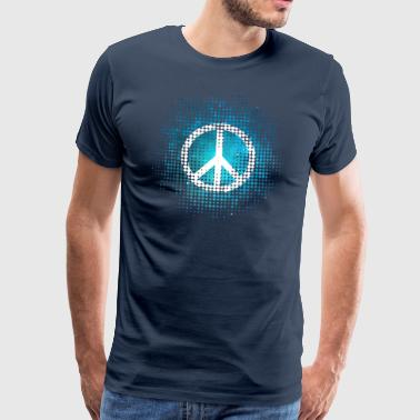 Peace Symbol Love Harmony Freedom Dots Summer - Mannen Premium T-shirt