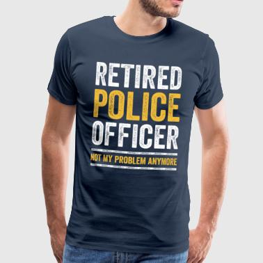RETIRED POLICE OFFICER COP in pension pension - Men's Premium T-Shirt