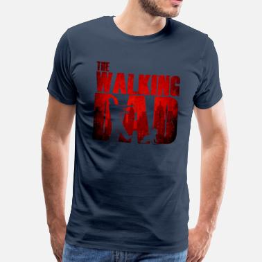 Fødsel The walking dad - Vater Baby Lustig Humor Zombie - Premium T-skjorte for menn