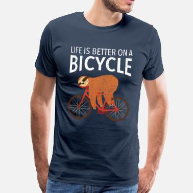 Life Is Better On A Bicycle - Premium koszulka męska