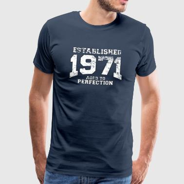 established 1971 - aged to perfection (nl) - Mannen Premium T-shirt