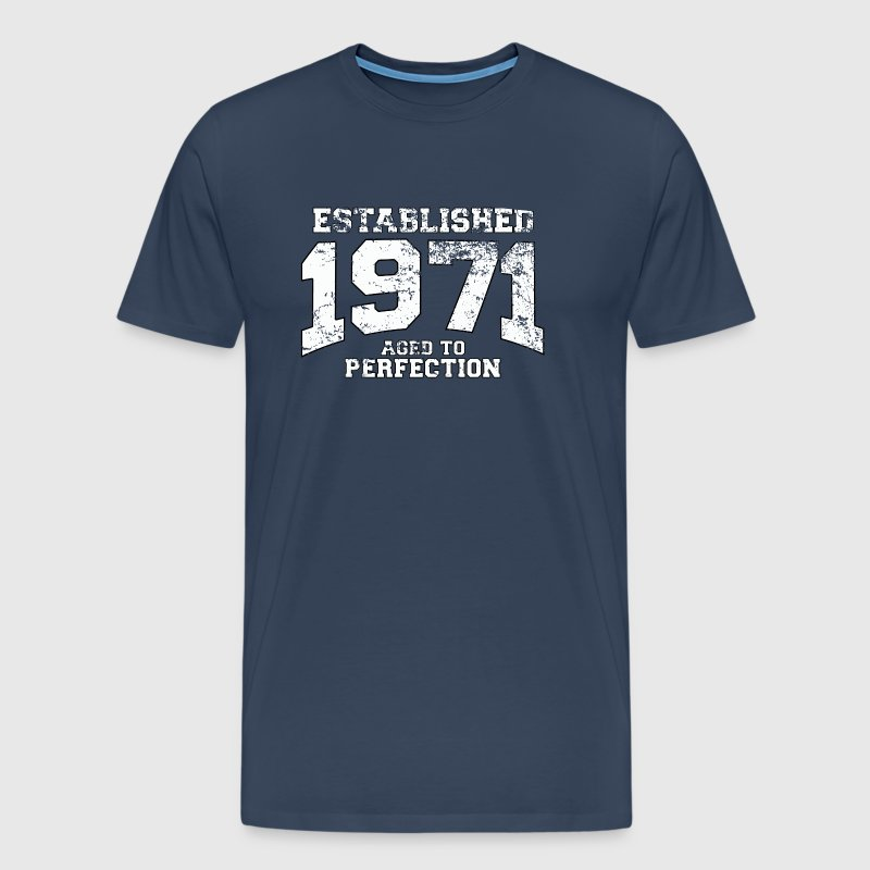 established 1971 - aged to perfection (uk) - Men's Premium T-Shirt
