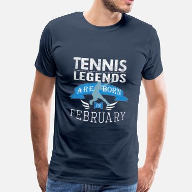 Coach Tennis legends are born in February boys - Men's Premium T-Shirt