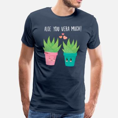 Couples Aloe You Vera Much - Cute Love Couple Gift Idea - Premium-T-shirt herr