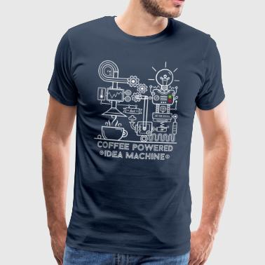 Coffee powered Idea Machine - Herre premium T-shirt